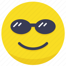 chill, cool, emoji, face, shades icon