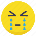 cry, crying, emoji, emotion, sad icon
