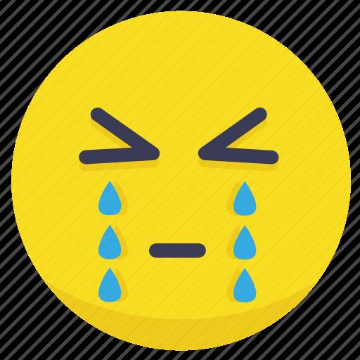 cry, crying, emoji, emotion, sad icon