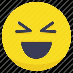 emoji, emotion, face, laugh, smiley icon
