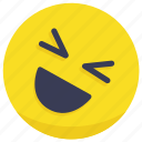 emoji, emotion, face, laugh, laughing icon