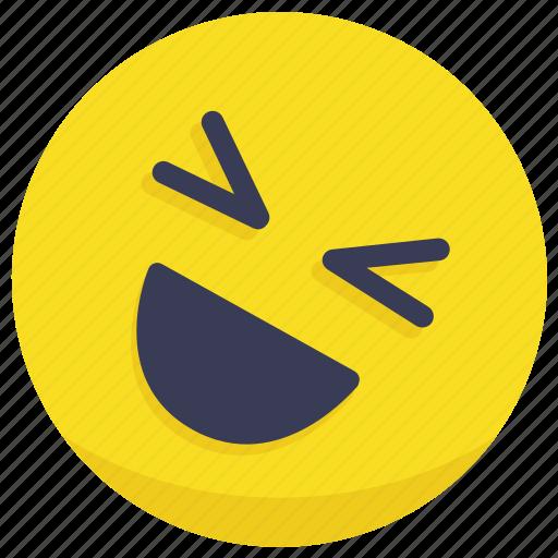 emoji, emotion, face, laugh, laughing icon