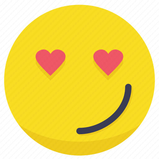 emotion, heart, in love, love, smiley icon