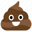 emotion, poop, poop emoji, shit, smiley face icon