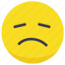 frawn, sad, sadness, sick, smiley icon