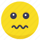 face, gulity, nervous, worried, worry icon