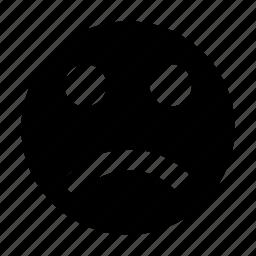 emoticon, face expression, feeling, sad face, sad smiley icon
