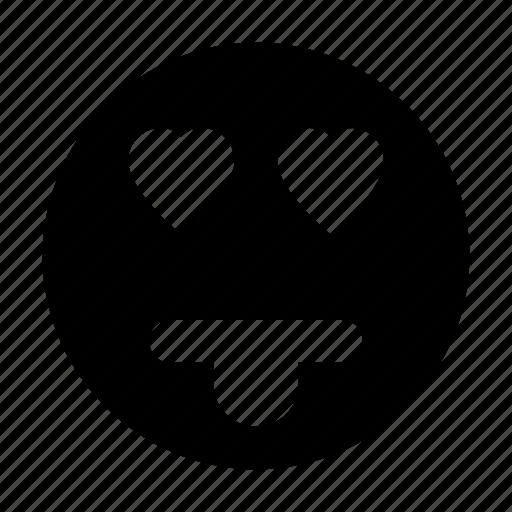 emoji, emoticon, happy smiley, smiley, smiley in love icon