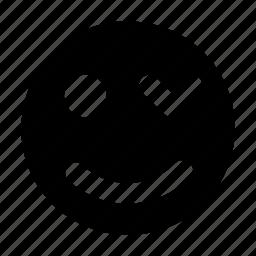 blink smiley, emoticon, face expression, text emoticon, winking face icon