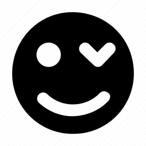blink smiley, emoticon, face expression, text emoticon, winking face icon