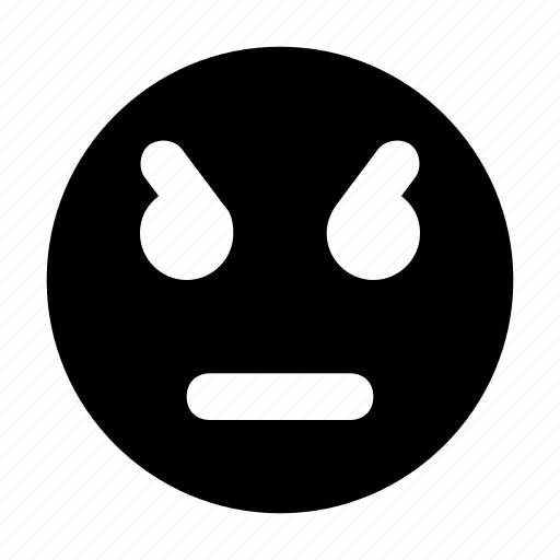 angry face, angry smiley, annoyed, emoticon, irritated icon