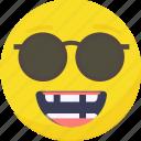 .svg, cool, emoji, emoticon, expressions, happy, sun glasses icon