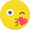 .svg, emoji, emoticon, expressions, kiss, love, smiley icon