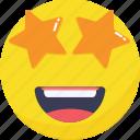 expressions, smiley, emoji, emoticon, amazing, star icon