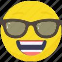 .svg, cool, emoji, emoticon, expressions, happy, smiley, sun glasses icon