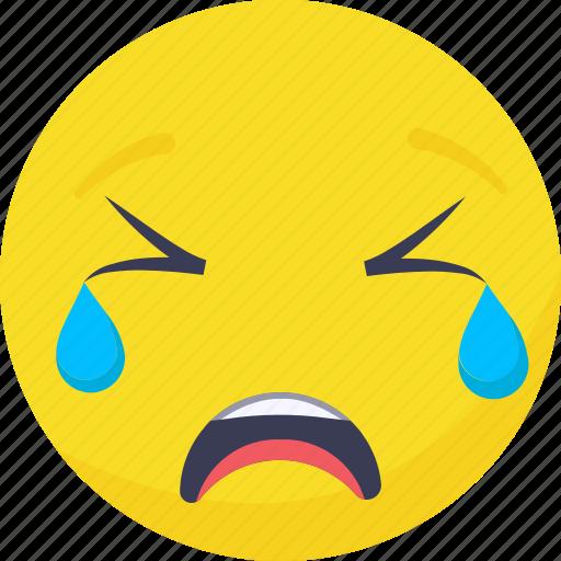 .svg, crying, emoji, emoticon, expressions, smiley icon