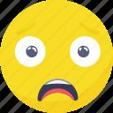 confuse, smiley, emoji, sad, emoticon, expressions icon