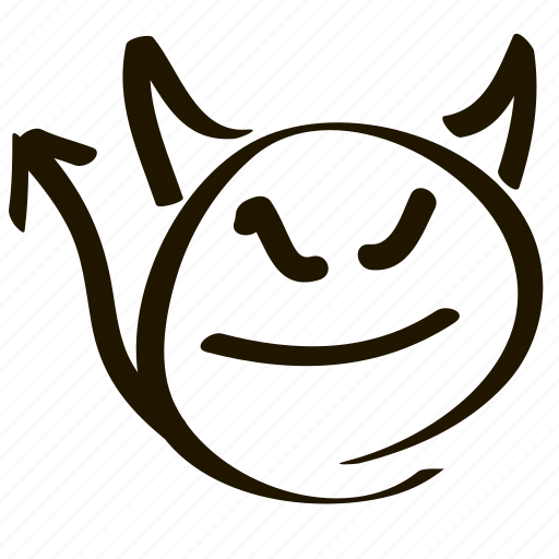 angry, demon, emoticon, evil, hell, horns, smiley icon