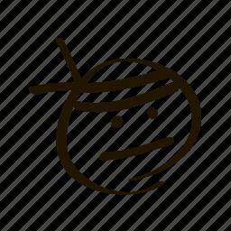 emoji, emoticon, emoticons, face, fighter, ninja, smiley icon