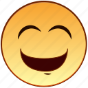 cute, emoticon, emotion, happy, laugh, laughing, smiley icon