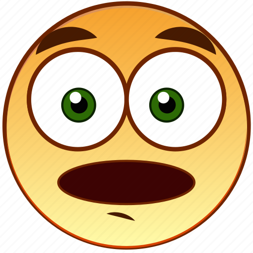 emoticon, fear, screaming, shock, shocked, smiley, surprised icon