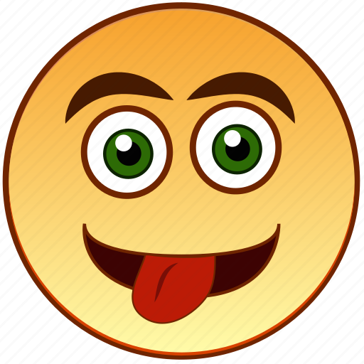 Cheerful, emoticon, happy, smile, smiley, teasing, tongue icon - Download on Iconfinder
