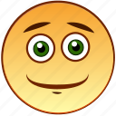 emoticon, cute, positive, smiley, cheerful, smile, happy