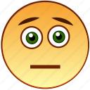 emoticon, smiley, head, unhappy, sad, dissapointed