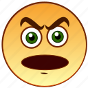 angry, emoticon, emotion, evil, frown, menacing, smiley icon