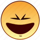cheerful, emoticon, happiness, happy, laugh, smile, smiley icon