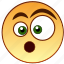 emoticon, emotion, fear, shock, shocked, smiley, surprised icon