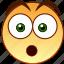 afraid, emoticon, fear, overwhelmed, shock, smiley, surprised icon
