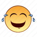 emoticon, emotion, smiley, lol, person, tears, laughing