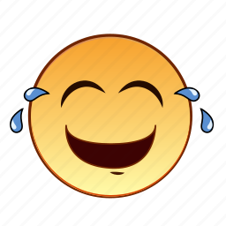 emoticon, emotion, laughing, lol, person, smiley, tears icon