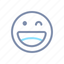 blink, emoji, emoticon, emotion, expression, face, smiley icon