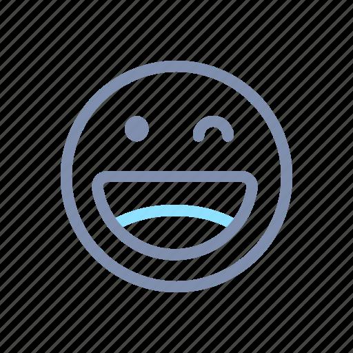 blink, emoji, emoticon, emotion, expression, face, smiley icon