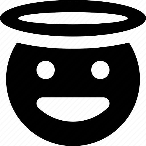 angel, happy icon