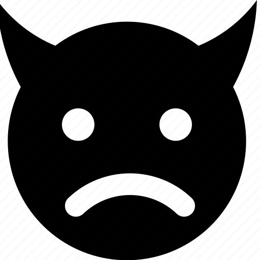 devil, frown icon