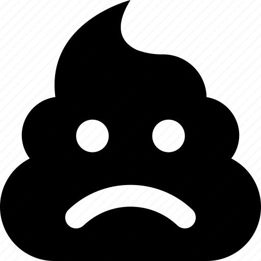 frown, poop icon