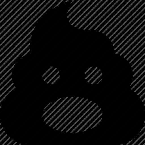 poop, surprised icon