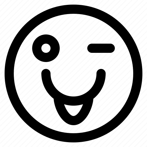 smiley, speech, terms, tongue icon