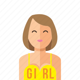 girl, woman icon