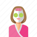 health, woman, mask