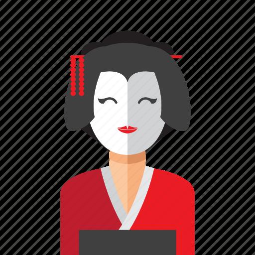 japanese, woman icon