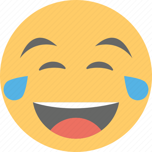 emoticons, face smiley, laughing face, laughing tears, smiley icon
