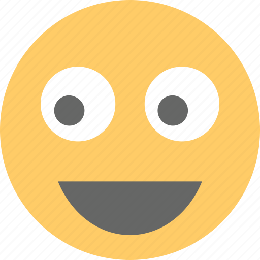 astonished face, emoji, happy face, surprised, wondering icon