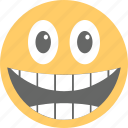 big grin, emoticon, happy face, laughing, smiley face icon