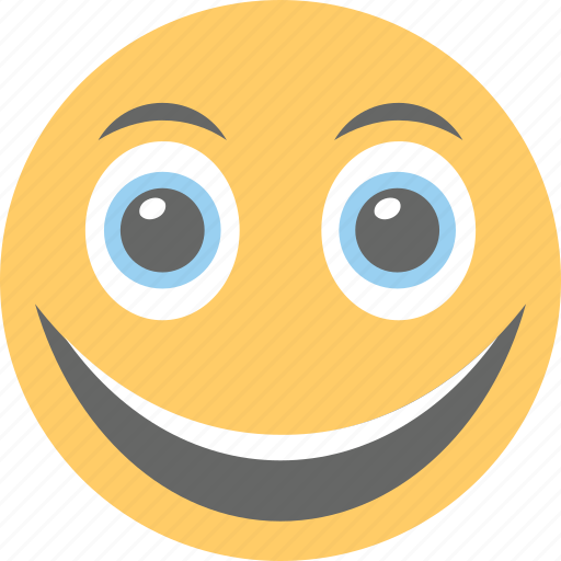 excited, happy, joyful, laughing, smiley icon
