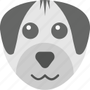 dog emoji, dog face, emoticon, pet, puppy icon
