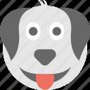 dog emoji, dog face, emoticon, pet, puppy icon